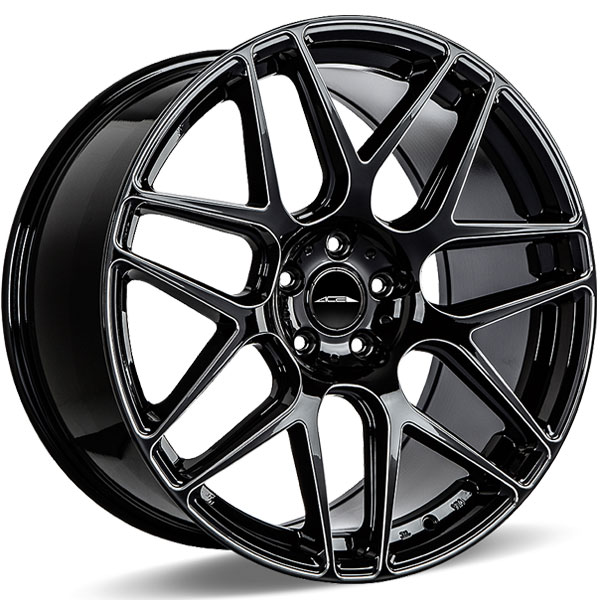 Ace Alloy Mesh 7 D707 Gloss Black Milled