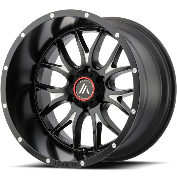 Asanti Off-Road AB-807 Satin Black Milled