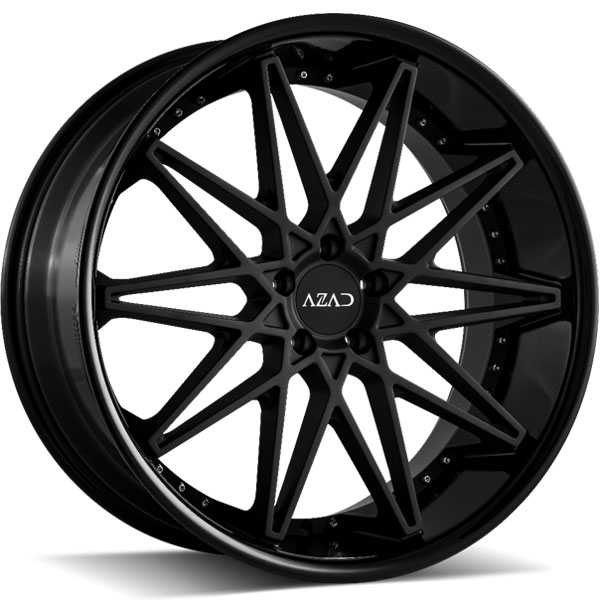 Azad AZ41 Matte Black Center with Gloss Black Lip