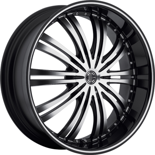 Black Diamond No.1 Gloss Black with Machined Face and Stripe