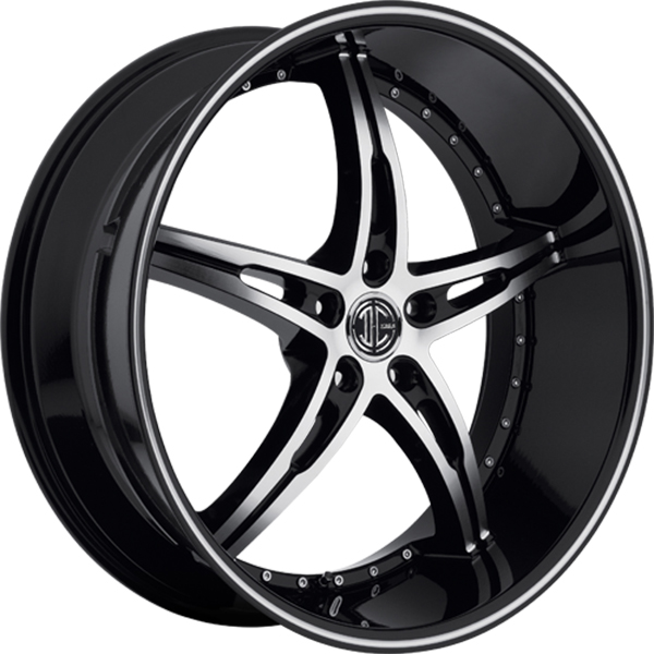 Black Diamond No.14 Gloss Black with Machined Face and Stripe