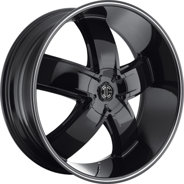 Black Diamond No.18 Gloss Black with Machined Face and Stripe