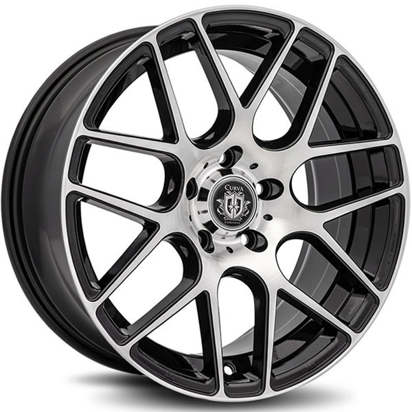 Curva Concepts C7 Black with Machined Face