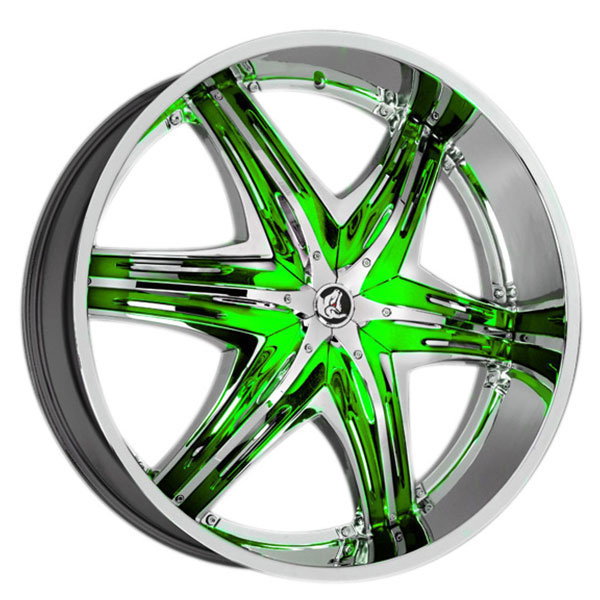 Diablo Elite G2 Chrome with Green Inserts