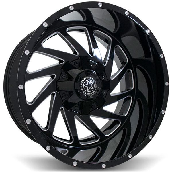 DWG Offroad DW13 Gloss Black with Milled Spokes