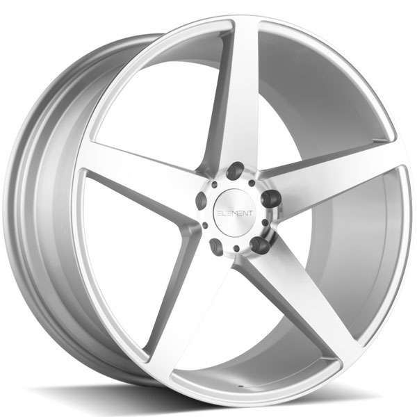 Element EL005 Silver with Machined Face
