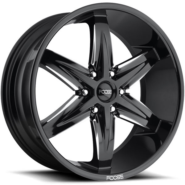 Foose Slider F162 Gloss Black with Milled Accents