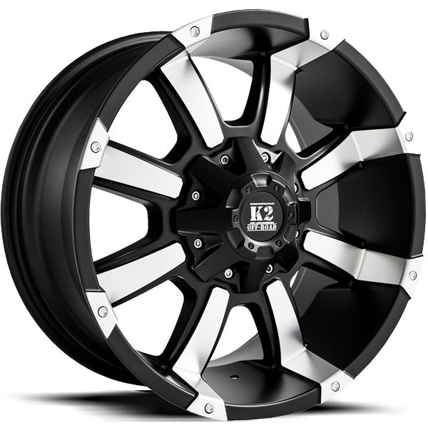 K2 OffRoad K05 Fitz Matte Black with Machined Face