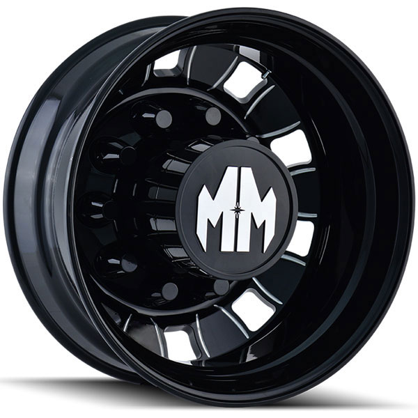 Mayhem BigRig Black with Milled Spokes Rear