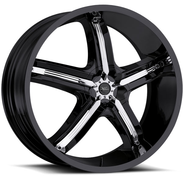 Milanni Bel Air 5 459 Black with Chrome Inserts