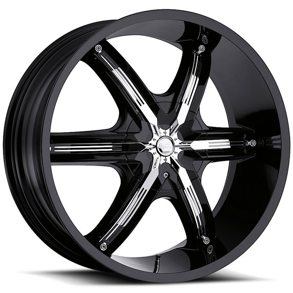 Milanni Bel Air 6 460 Black with Chrome Inserts