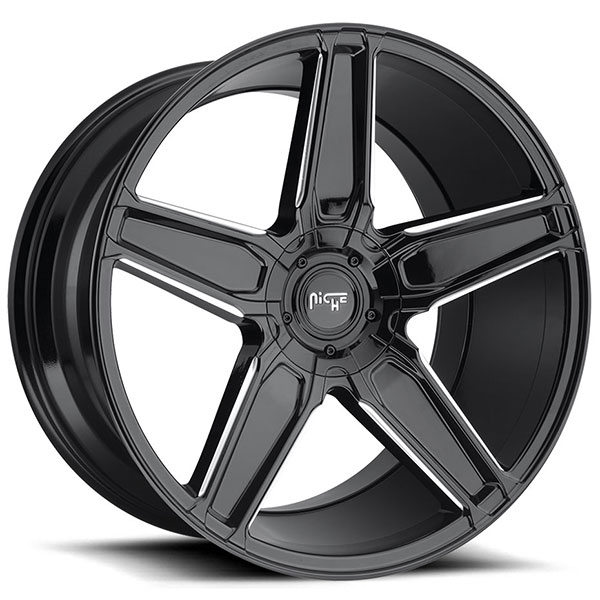 Niche Cannes M180 Gloss Black with Milled Accents