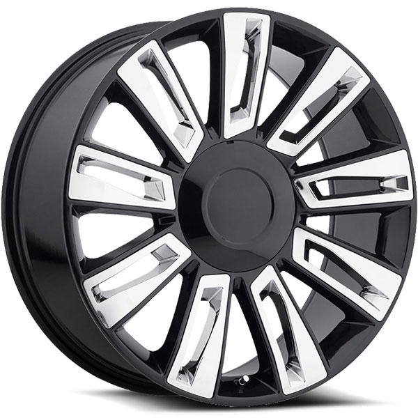OE Revolution D-06 Gloss Black with Chrome Inserts
