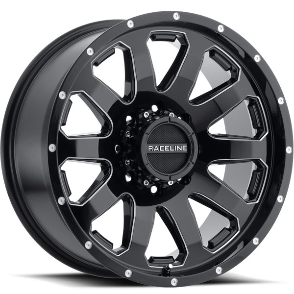Raceline 938 Enforcer Black with Milled Spokes