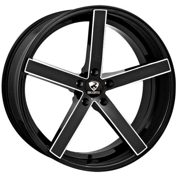Ravetti M1 Black with Milled Spokes