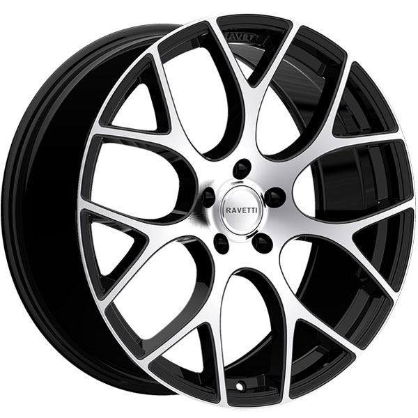 Ravetti M8 Black with Machined Face