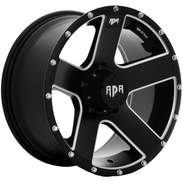 Red Dirt Road RD07 Riot Satin Black with Machined Accents