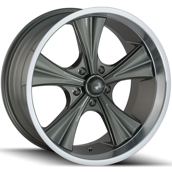 Ridler 651 Grey with Machined Lip