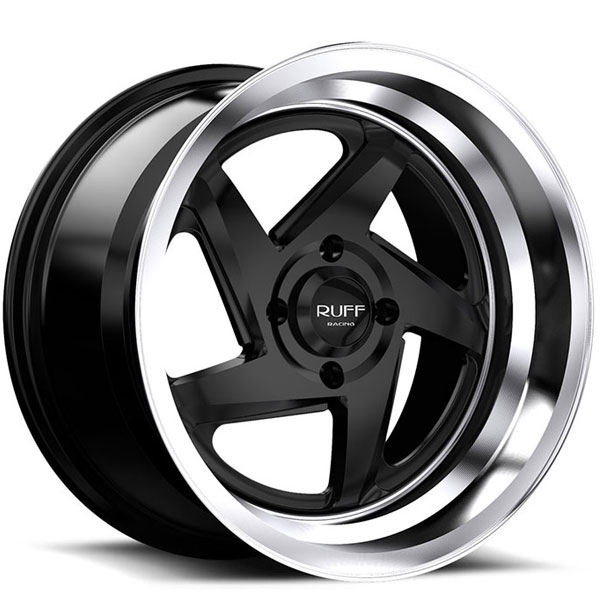 Ruff Racing R368 Satin Black with Machined Lip