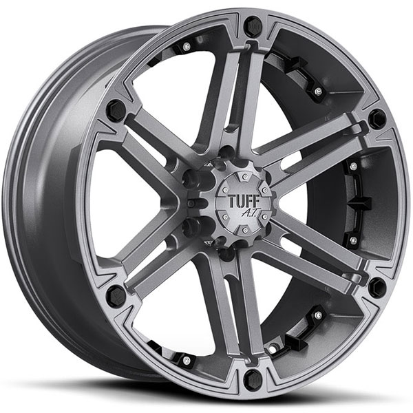 Tuff T01 Satin Gunmetal with Black Inserts