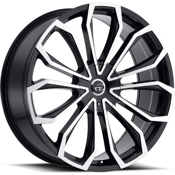 VCT V78 Black with Machined Face