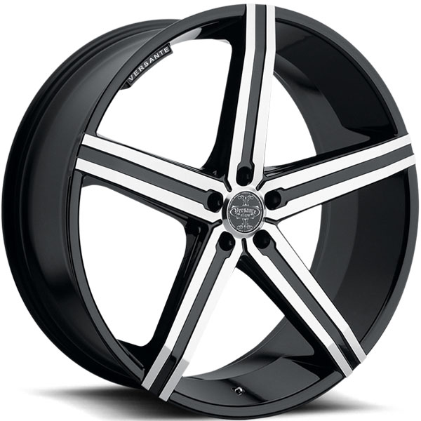 Versante 228 Black with Machined Face and Stripe 5 Lug