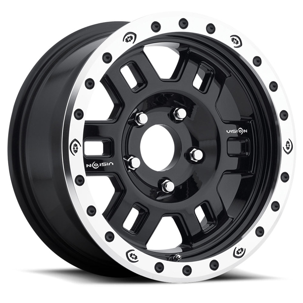 Vision Off-Road 398 Manx Competition Gloss Black with Machined Lip