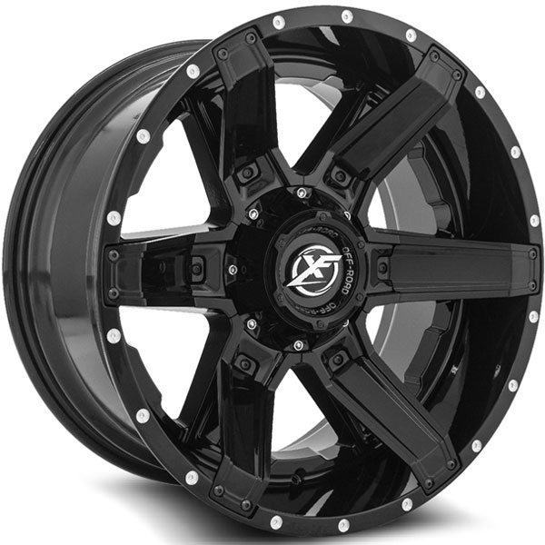 XF Off-Road XF-214 Gloss Black with Gloss Black Inserts