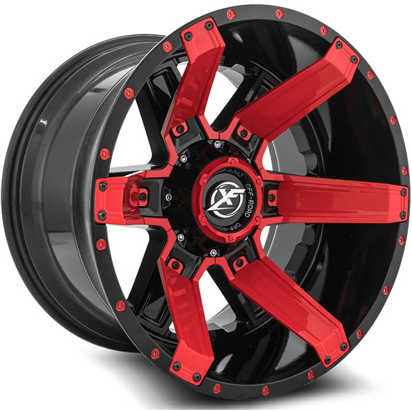 XF Off-Road XF-214 Gloss Black with Red Inserts