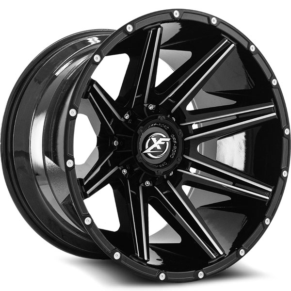 XF Off-Road XF-220 Gloss Black with Milled Spokes