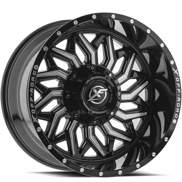 XF Off-Road XF-228 Gloss Black with Milled Spokes